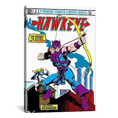 iCanvas Marvel Comics Hawkeye Issue Cover #1 Graphic Art on Canvas; 26'' H x 18'' W x 0.75'' D