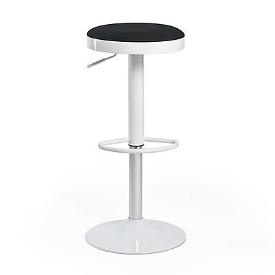 Aeon Furniture Fun, Colorful Carrie Adjustable Height Swivel Bar Stool (Set of 2); Black