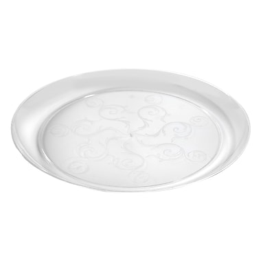 Savvi Serve Plastic Clear Plastic Plate 10