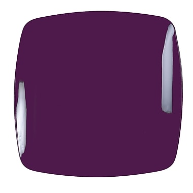 Renaissance Plastic Rounded Square China Like Plate In Purple 10