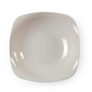 Renaissance Plastic Bone Rounded Square China-Like Bowl 12 Oz.