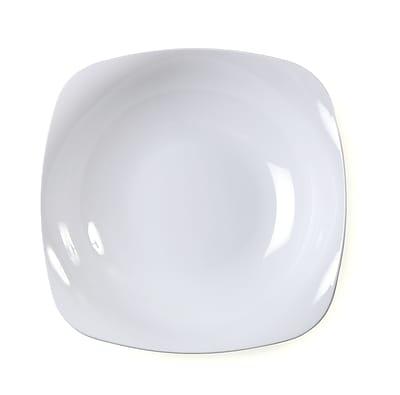 Renaissance Plastic Rounded Square China-Like Bowl 12 Oz