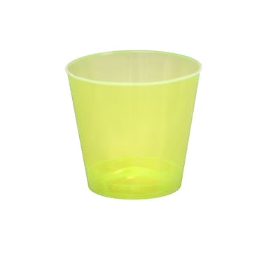 Savvi Serve Plastic Yellow Neon Tumbler Shot Glass