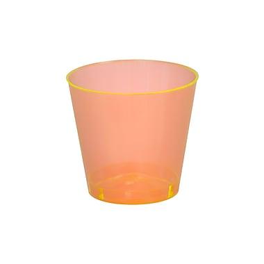 Savvi Serve Plastic Orange Neon Tumbler Shot Glass 2 Oz.