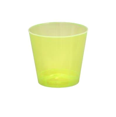 Savvi Serve Plastic Yellow Neon Tumbler Shot Glass 2 Oz.