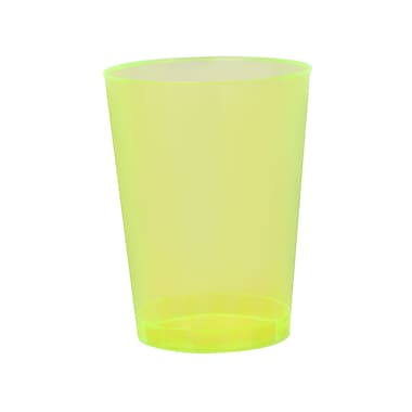 Savvi Serve Plastic Yellow Neon Tumbler 10 Oz.