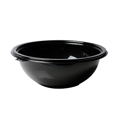Super Bowl Plastic Black Salad Bowl 100/Set 24 Oz.