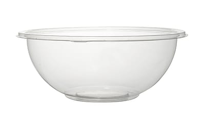 Super Bowl Recyclable Plastic Clear Salad Bowl PET 32 Oz.