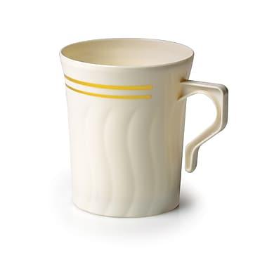 Silver Splendor Plastic Bone China-Like Coffee Mug 8 Oz.