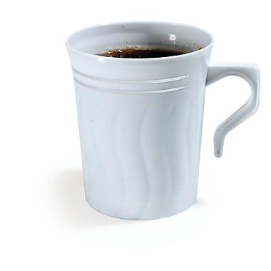 Silver Splendor Plastic White China-Like Coffee Mug 8 Oz.