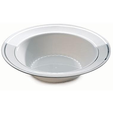 Silver Splendor Plastic White With Silver Round China-Like Bowl 12 Oz.