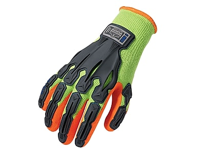 Ergodyne® ProFlex® 921 Thermal Rubber-Dipped Dorsal Impact-Reducing Gloves, Lime, Medium