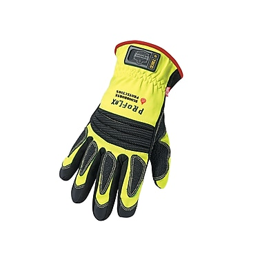 Ergodyne® ProFlex® 730OD Synthetic Leather/Armortex® Fire & Rescue Performance Gloves, Lime, Large