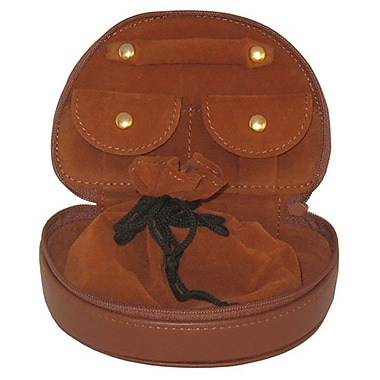 Royce Leather Mini Jewellery Case, Tan, Debossing, Full Name