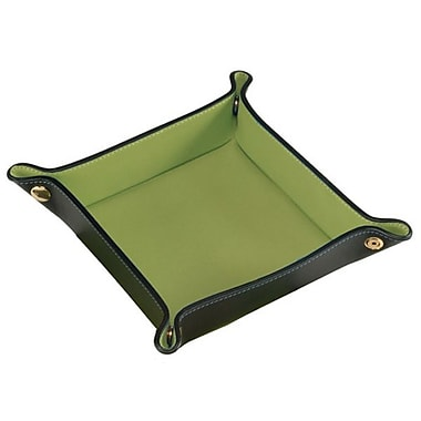Royce Leather Suede Valet Tray, Green
