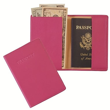 Royce Leather – Porte-passeport, baie sauvage, estampage doré, nom complet