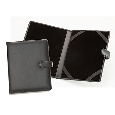 Royce Leather iPad Mini Case, Black, Silver Foil Stamping, 3 Initials