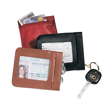 Royce Leather ID Wallet and Key Case, Black
