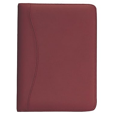 Royce Leather Junior Writing Padfolio, Burgundy (743-BURG-5), Silver Foil Stamping, 3 Initials
