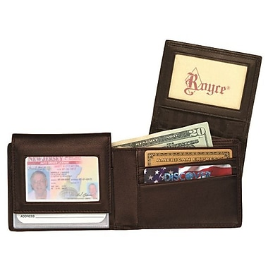 Royce Leather Men's Removable ID Wallet, Coco, Gold Foil Stamping, Full Name