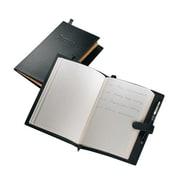 Royce Leather – Journal de bord en cuir fabriqué à la main, noir