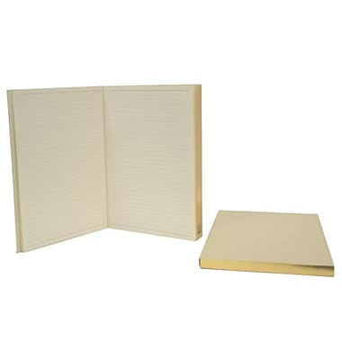 Royce Leather Two Gilt Edged Journal Replacements for Royce Leather Journals, Silver Foil Stamping, Full Name