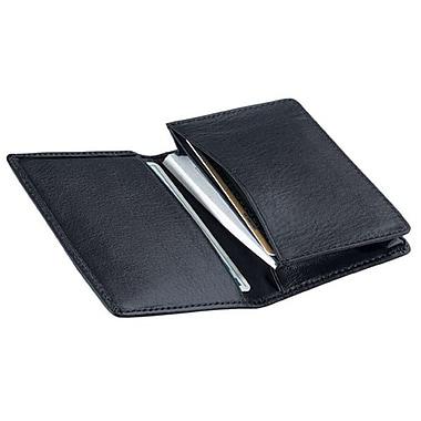Royce – Étui pour cartes professionnelles classique en cuir, bleu