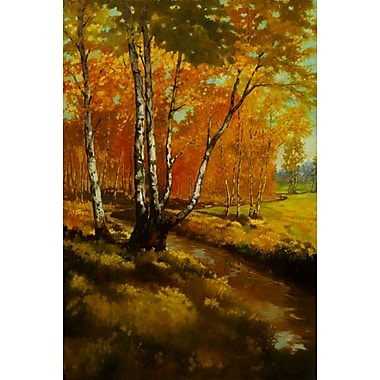 Ruisseau dans le bois I de Reynolds, toile, 24 x 36 po