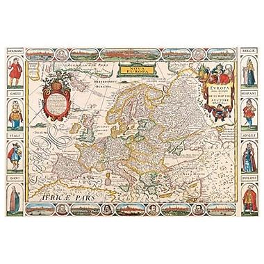 Carte de la Nova Europa, toile tendue, 24 x 36 po
