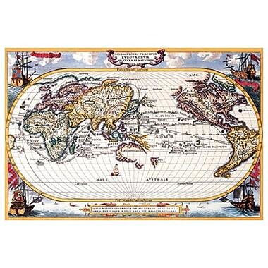 Antique Navigation Map by Scherer, Canvas, 24