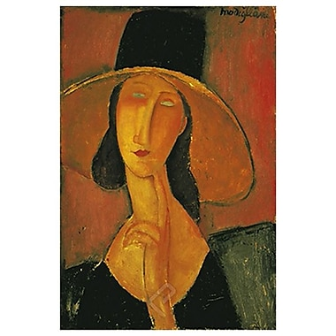 Jeanne Hebutern Hat by Modigliani, Canvas, 24
