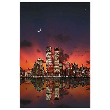 Ligne d'horizon de New York la nuit, toile tendue, 24 x 36 po