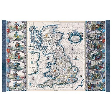 Map - Britannia, Stretched Canvas, 24