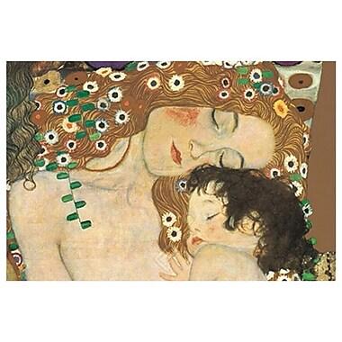Mère et enfant de Klimt, toile, 24 x 36 po