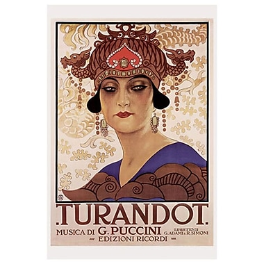 Puccini - Turandot, Stretched Canvas, 24