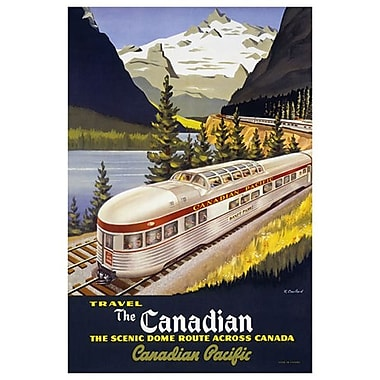 Canadian Pacific Scenic Dome, toile tendue, 24 x 36 po