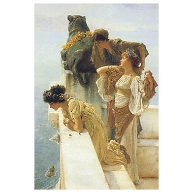 Position avantageuse d'Alma-Tadema, toile, 24 x 36 po