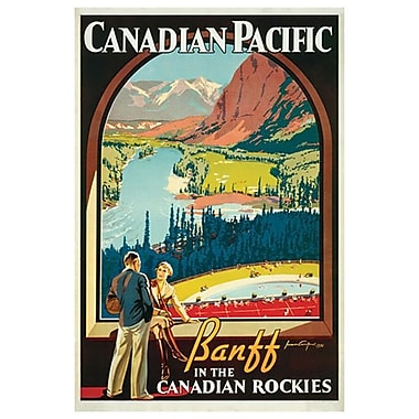 CP – Banff in Canadian Rockies, toile tendue, 24 x 36 po