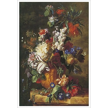 Bouquet Flowers by Van Huysum, Canvas, 24