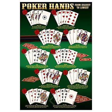 Poker Hands, Stretched Canvas, 24