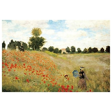 Poppies by Monet, Canvas, 24