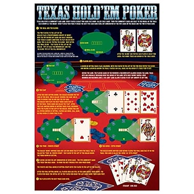 Rules of Texas Hold'em, Stretched Canvas, 24