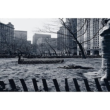 City Hall Park New York, Stretched Canvas, 24