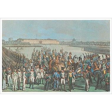 Cavalerie d'Italie de Napoléon, toile tendue, 24 x 36 po
