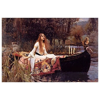 Lady of Shalott by Waterhouse, Canvas, 24