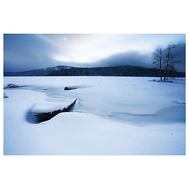 Lake Woods Boat Snow by Settle, Canvas, 24