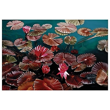 Red Water Lillies by Jablonski, Canvas, 24