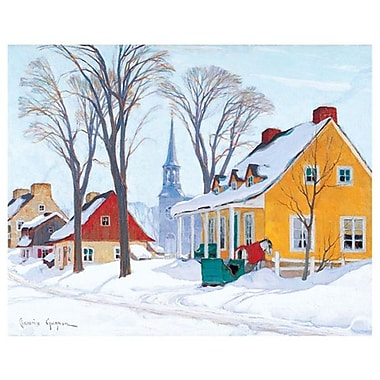 Gagnon Hiver Baie-Saint-Paul by Gagnon, Canvas, 24