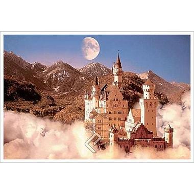 Château dans les montagnes, toile, 24 x 36 po