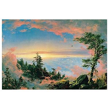 Aurore au-dessus des nuages de Church, toile, 24 x 36 po